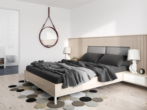 Are Ceramic Tile Floors Too Cold to Use in a Master Bedroom?